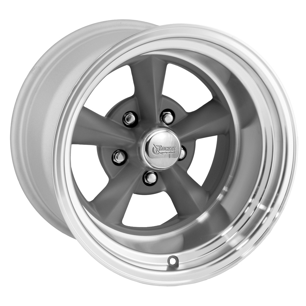 Rocket Racing Wheels Fuel - Gray Paint Center / Machined Lip Rim