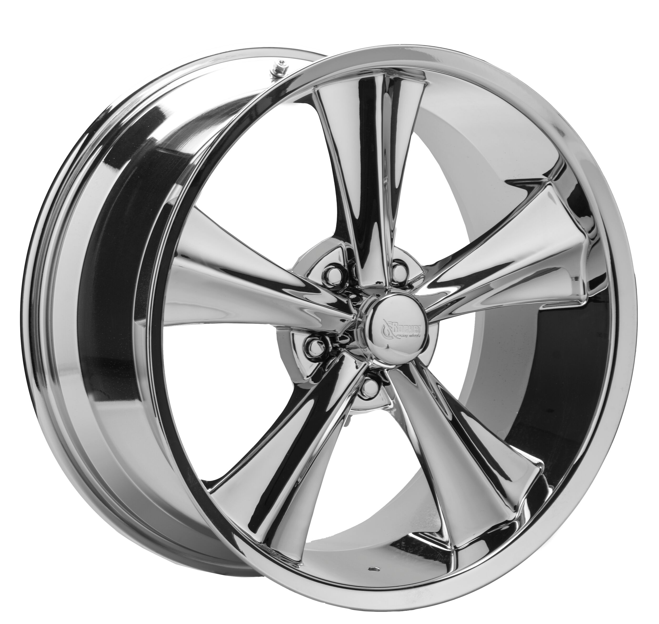 Rocket Racing Wheels Booster Modern Muscle - Chrome Rim