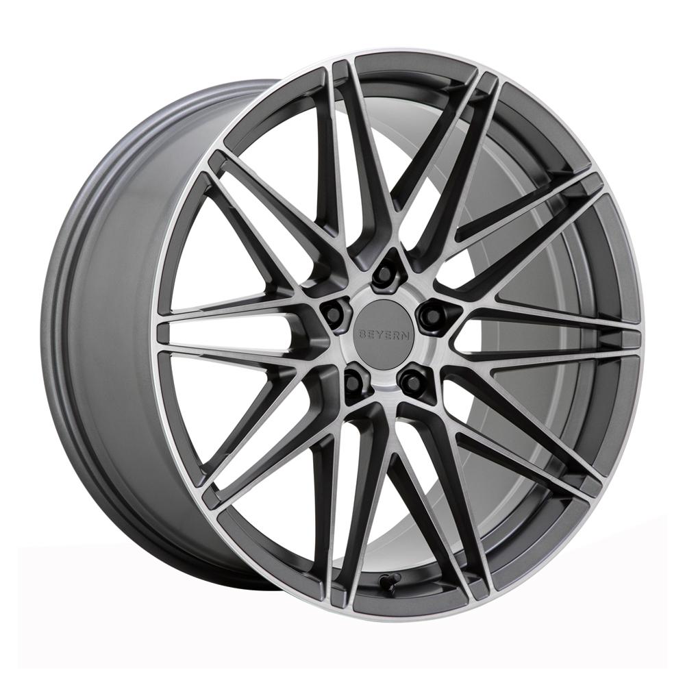 Beyern Wheels Damon - Matte Gunmetal w/Brushed Face Rim
