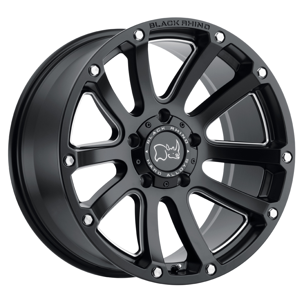 Highland - Matte Black with Milled Spokes