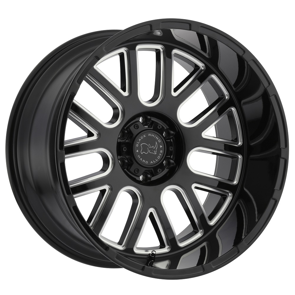 Black Rhino Wheels Pismo - Gloss Black with Milled Spokes