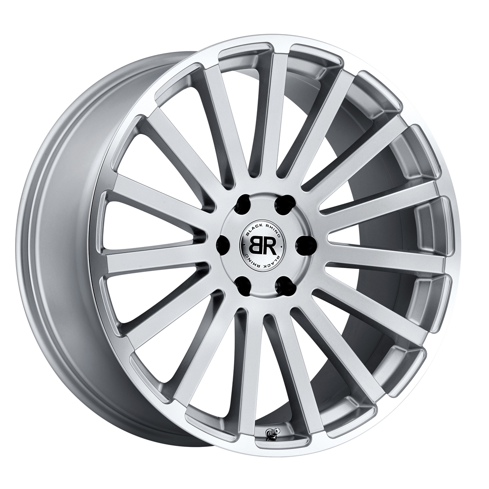 Black Rhino Wheels Spear - Silver with Mirror Cut Lip Edge