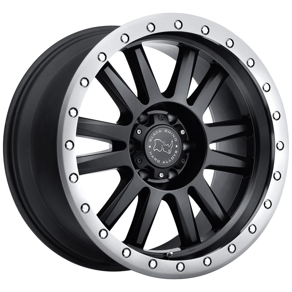 Black Rhino Wheels Tanay - Matte Black with Graphite Lip