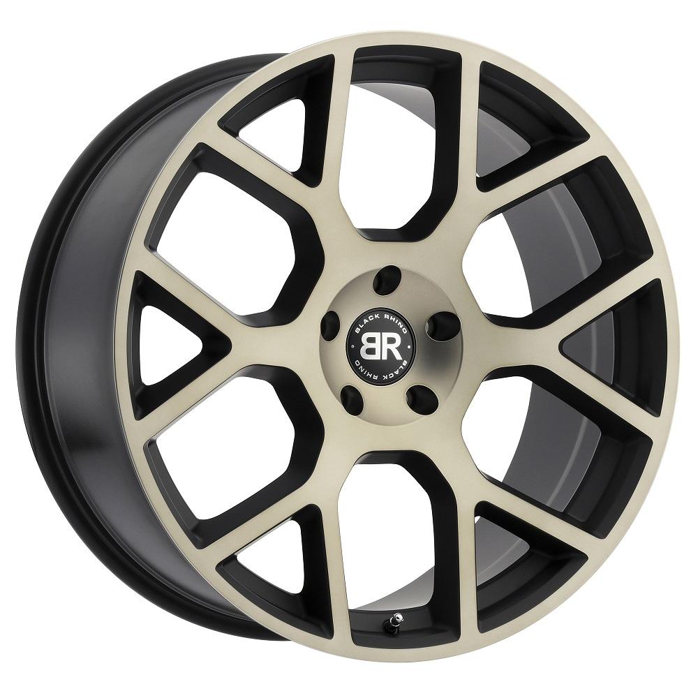 Black Rhino Wheels Tembe - Matte Black with Machined Face & Dark Matte Tint