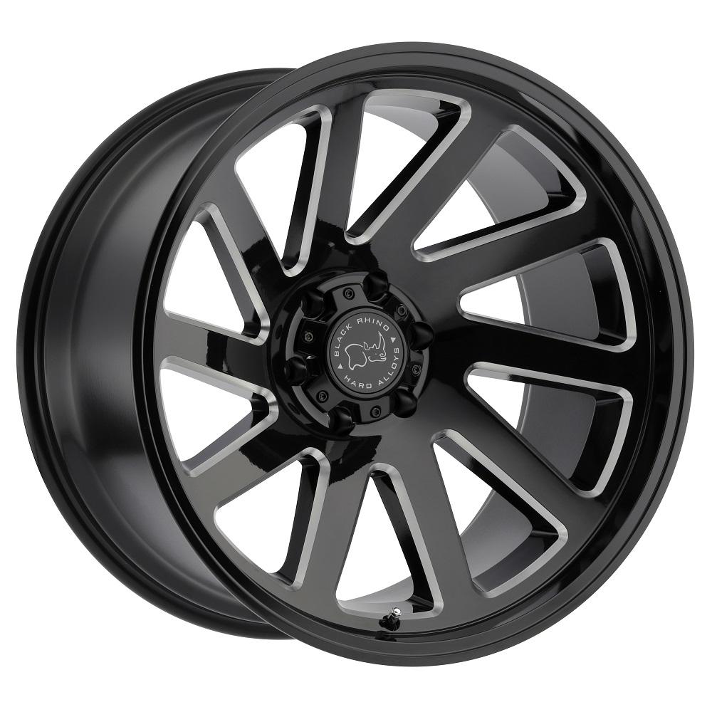 Black Rhino Wheels Thrust - Gloss Black with Milled Spokes