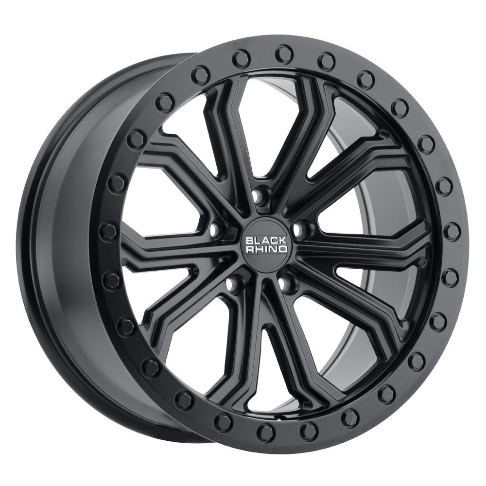 Black Rhino Wheels Trabuco - Matte Black with Black Bolts