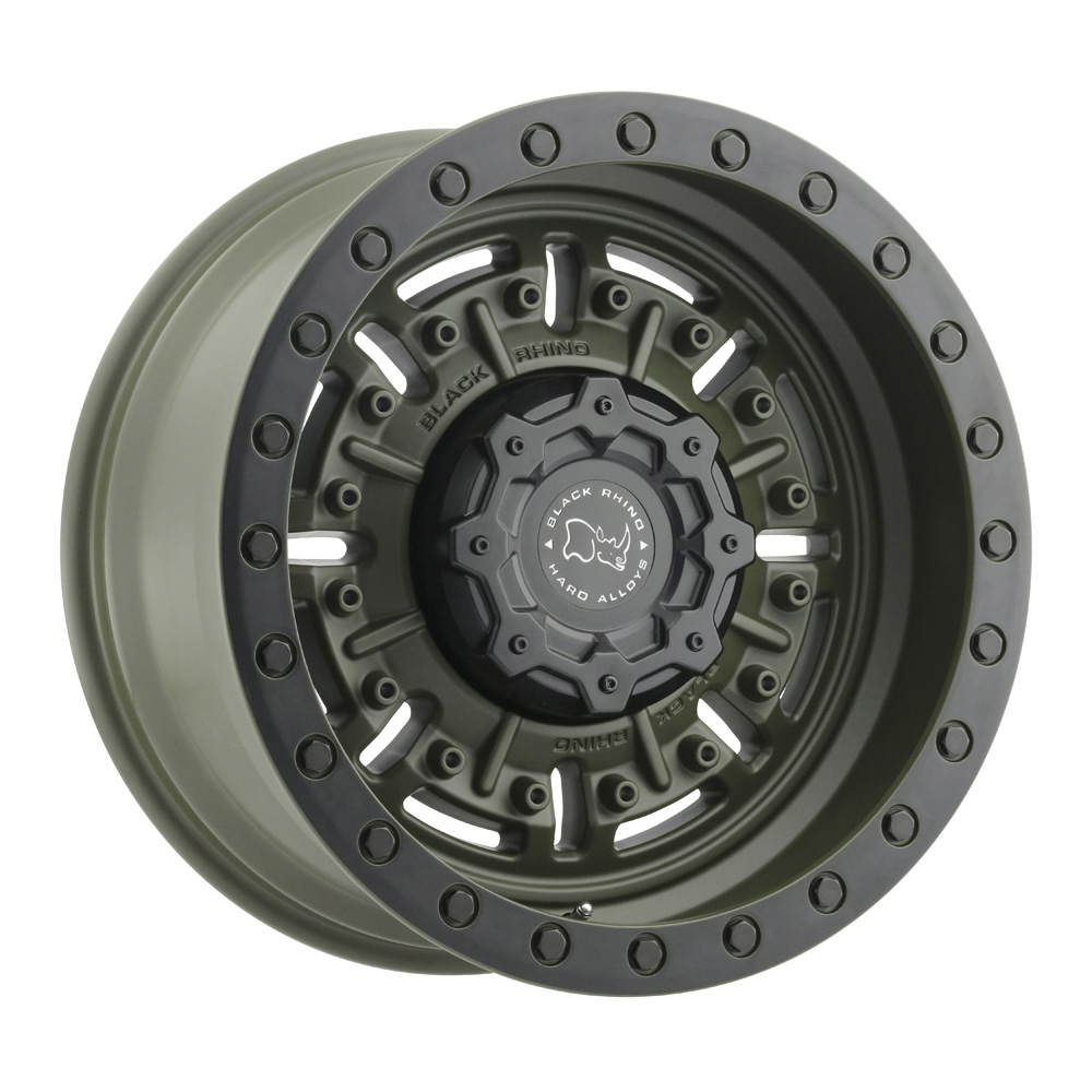 Black Rhino Wheels Abrams - Matte Olive Drab Green Rim