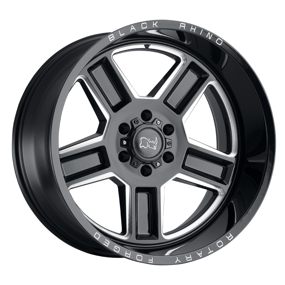 Black Rhino Wheels Canon - Gloss Black / Milled Rim