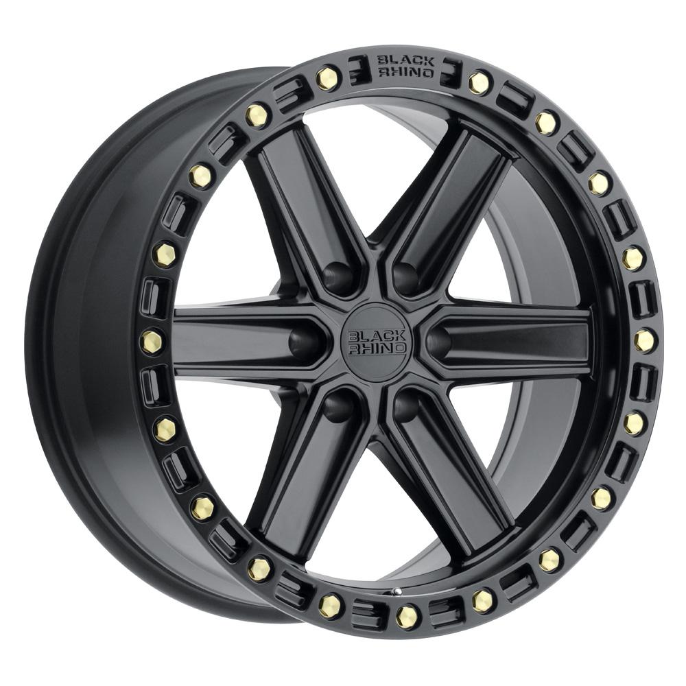 Black Rhino Wheels Henderson - Matte Black W/Brass Bolts Rim