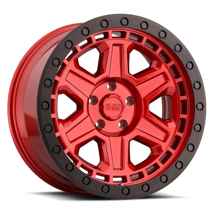 Black Rhino Wheels Reno - Candy Red W/ Black Ring & Black Bolts Rim