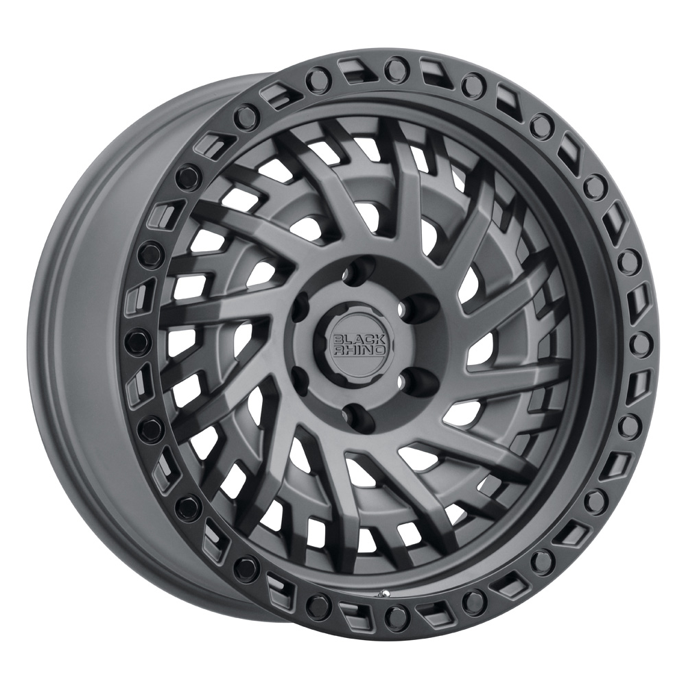 Black Rhino Wheels Shredder - Matte Gunmetal W/Black Lip Edge