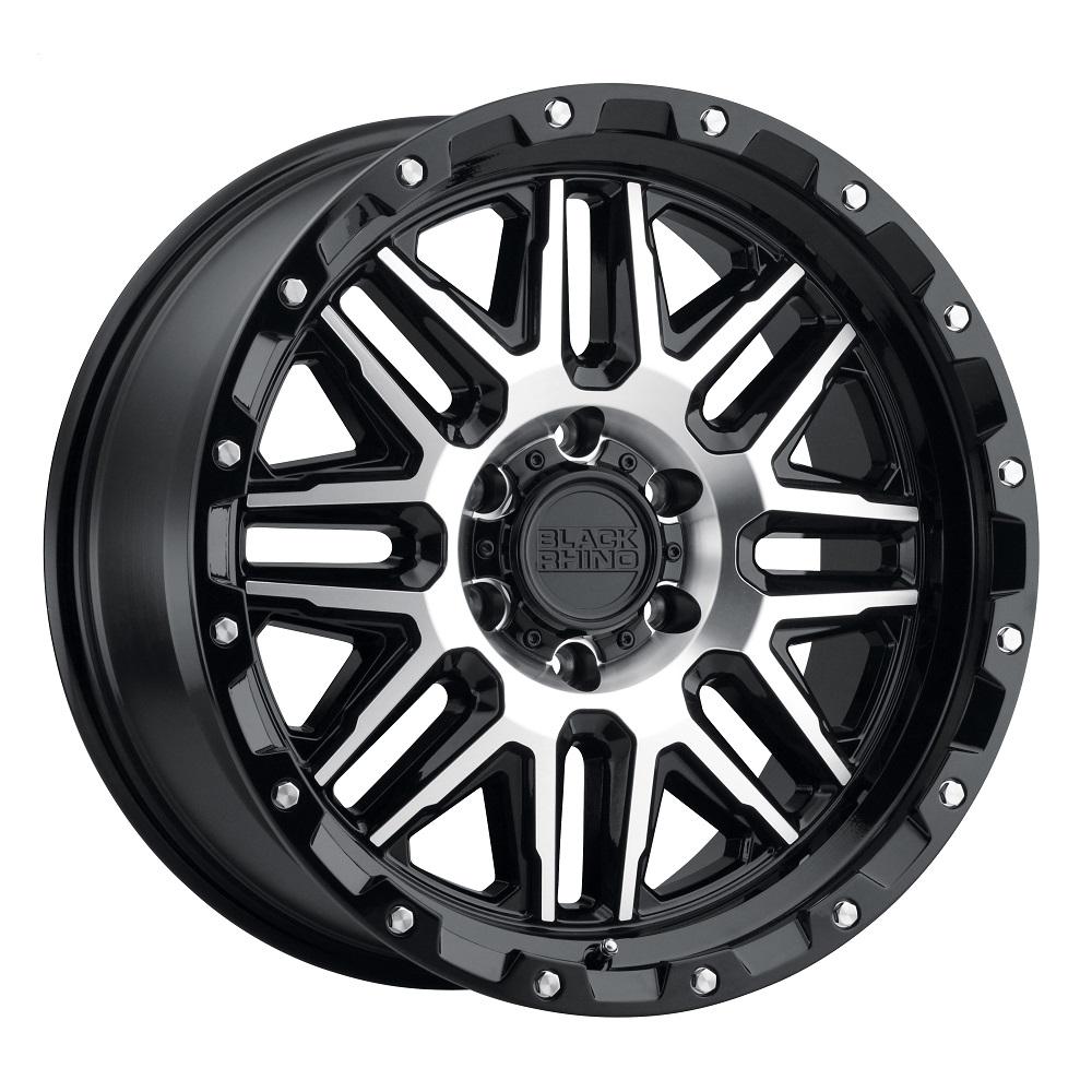 Black Rhino Wheels Alamo - Gloss Black W/Machined Face & Stainless Bolts Rim