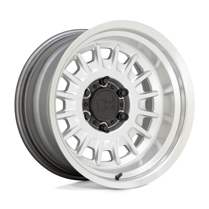 Black Rhino Wheels Aliso - Gloss Silver w/Mirror Cut Face & Lip Rim
