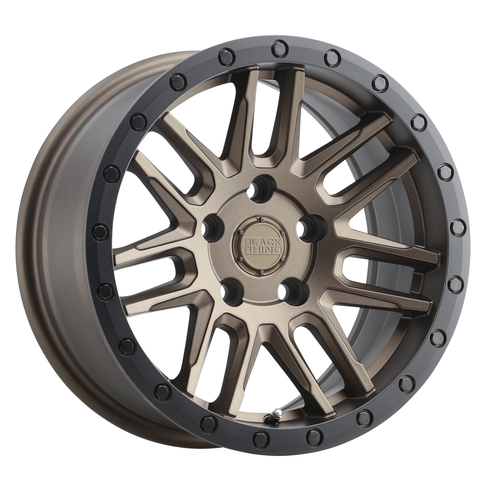 Black Rhino Wheels Arches - Bronze W/Black Lip Edge & Black Bolts Rim