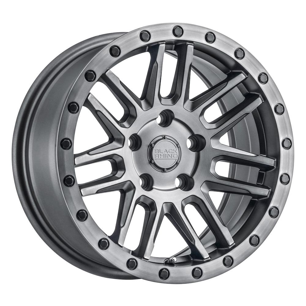 Black Rhino Wheels Arches - Matte Gunmetal W/Black Lip Edge & Black Bolts Rim
