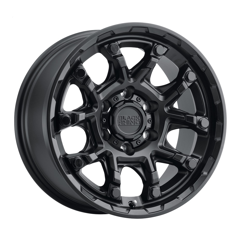Black Rhino Wheels Ark - Matte Black W/Gloss Black Bolt Rim