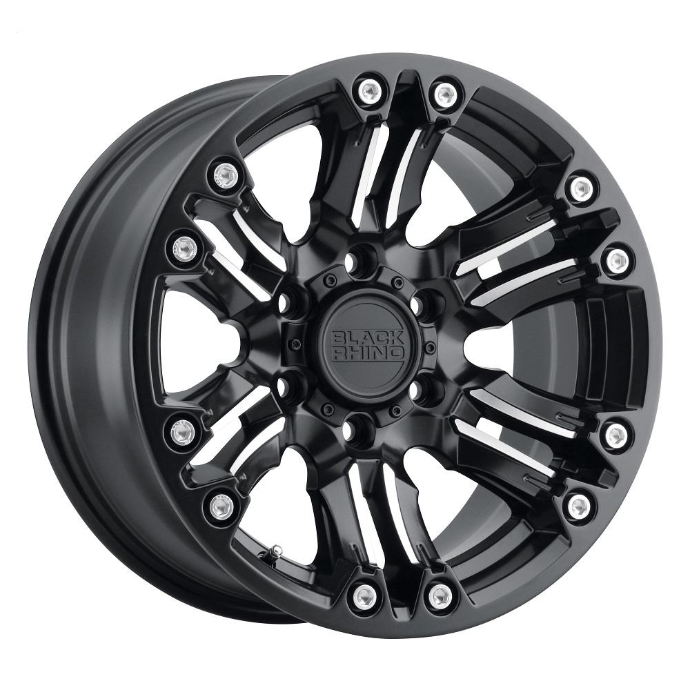 Black Rhino Wheels Asagai - Matte Black W/Machined Spoke & Stainless Bolts Rim