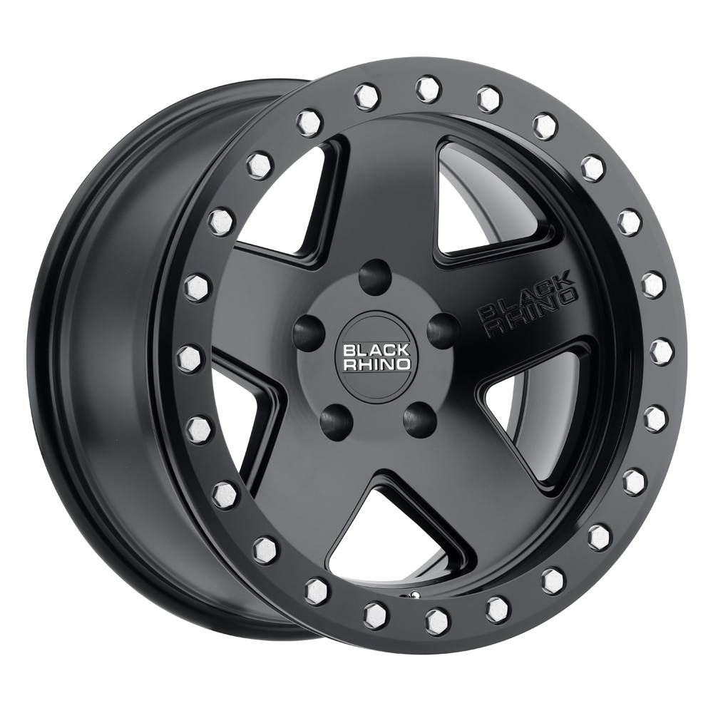 Black Rhino Wheels Crawler - Matte Black with Silver Bolts