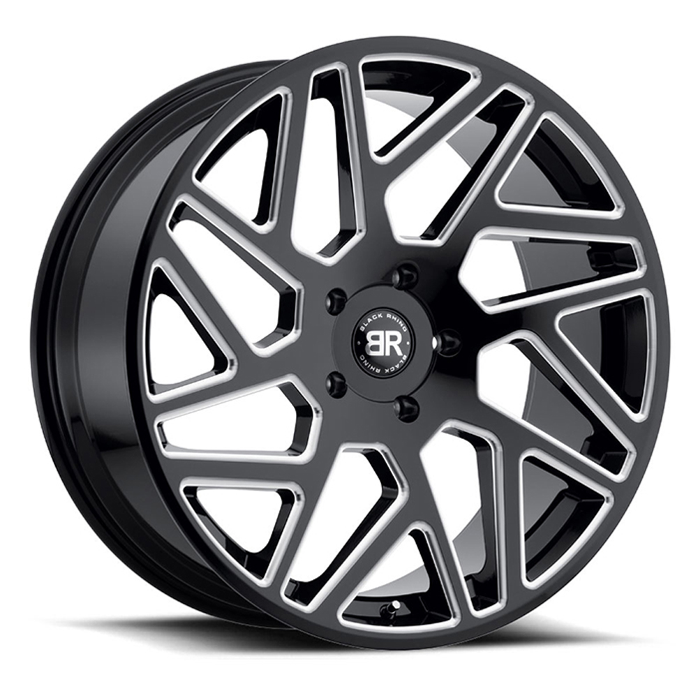 Cyclone - Gloss Black with Milled Spokes