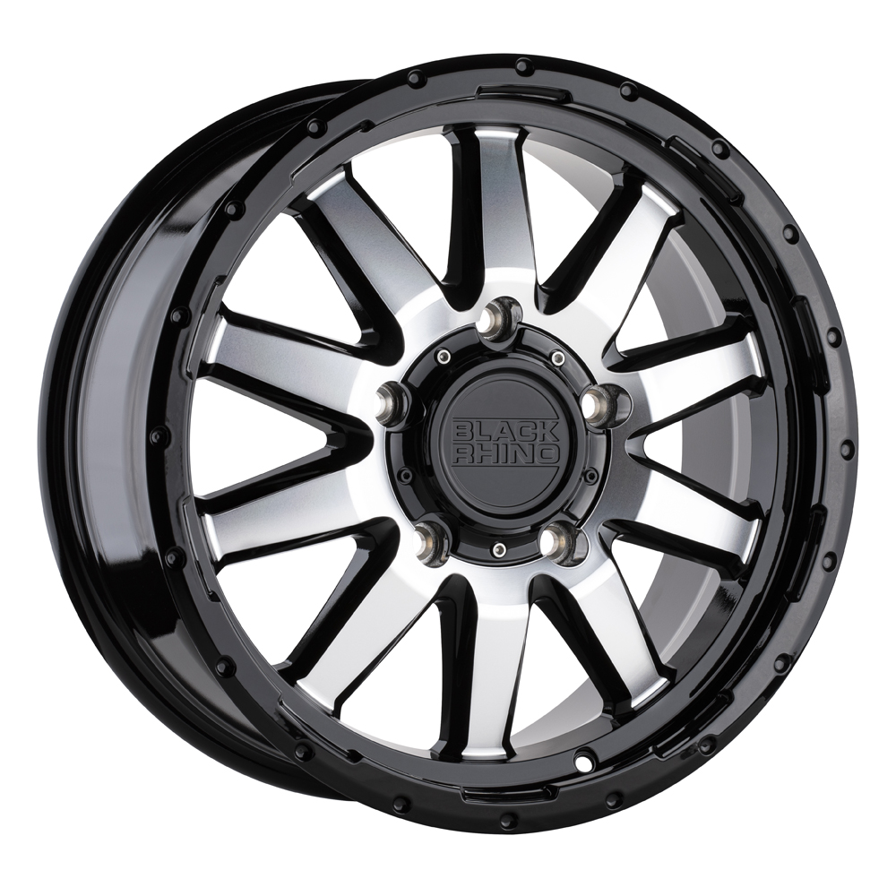 Black Rhino Wheels Excursion - Gloss Black w/ Mirror Face Rim