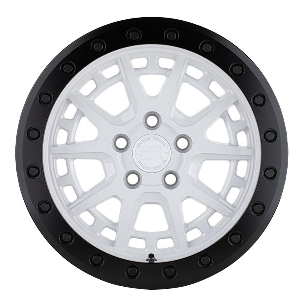 Black Rhino Wheels Gravel - Gloss White w/Black Ring and Black Bolts Rim