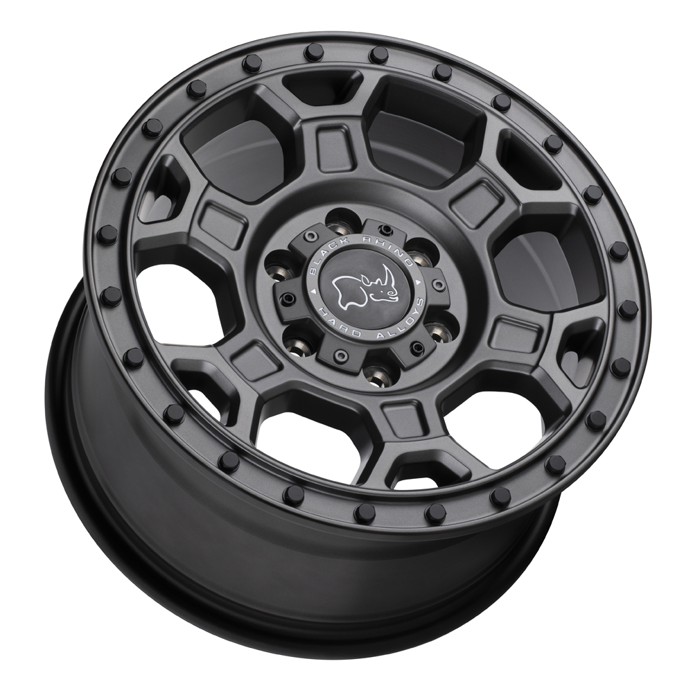 Black Rhino Wheels Midhill - Matte Gunmetal w/ Black Bolts Rim