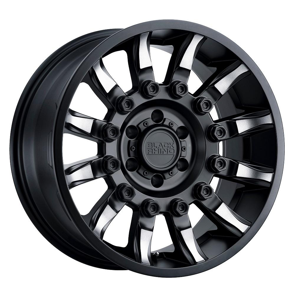 Black Rhino Wheels Mission - Matte Black W/Machined Tinted Spokes Rim