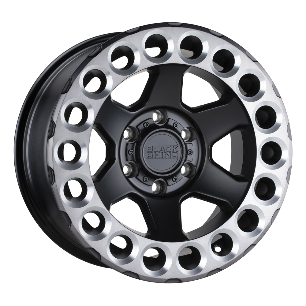 Black Rhino Wheels Odessa - Matte Black w/ Machined Tinted Lip and Milled Rings Rim
