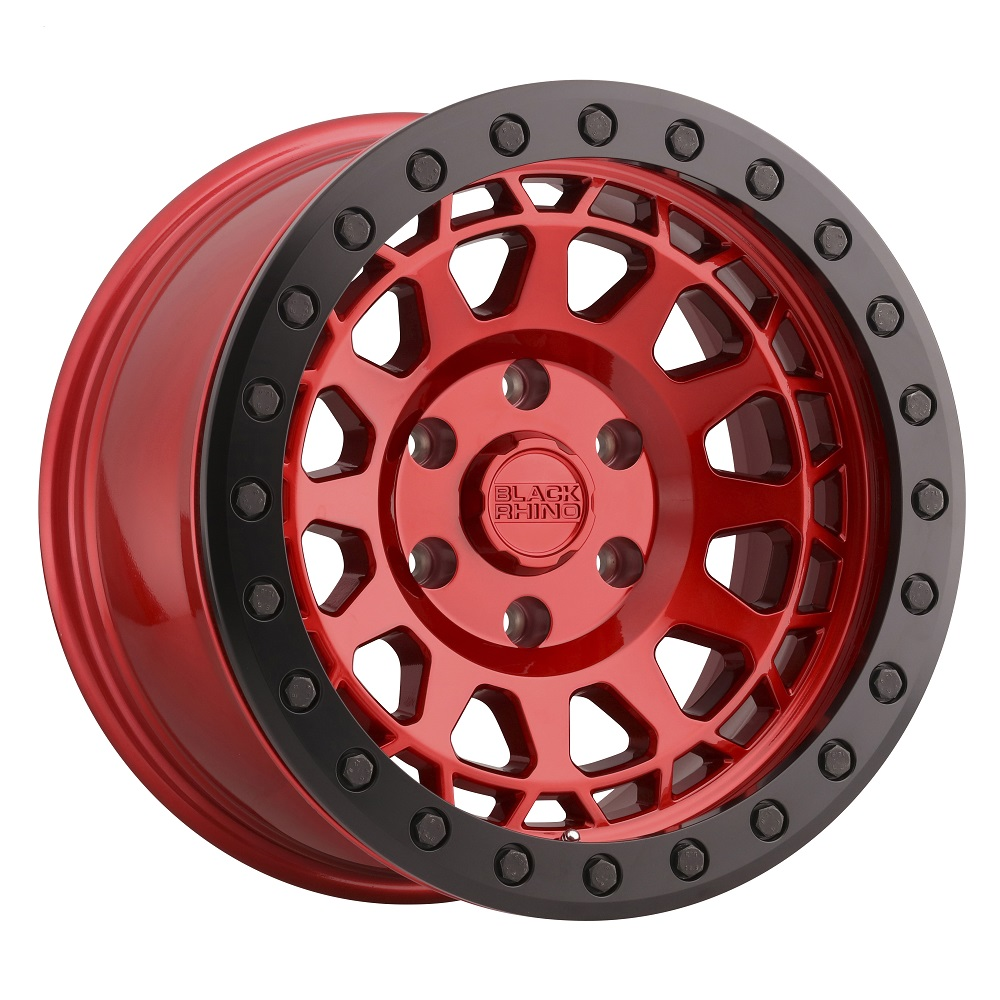 Black Rhino Wheels Primm Beadlock - Red W/Black Ring & Black Bolts