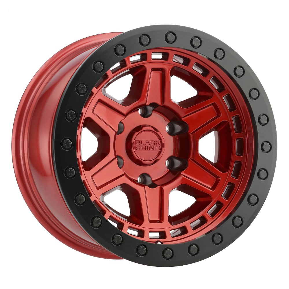 Black Rhino Wheels Reno Beadlock - Red W/ Black Ring & Black Bolts Rim