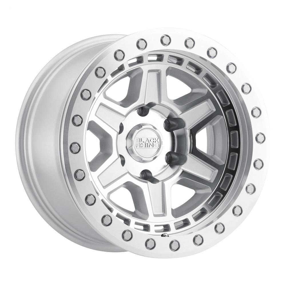 Black Rhino Wheels Reno Beadlock - Silver W/Mirror Face & Silver Bolts Rim