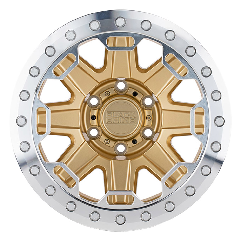 Black Rhino Wheels Rift Beadlock - Matte Gold W/Machined Ring Rim