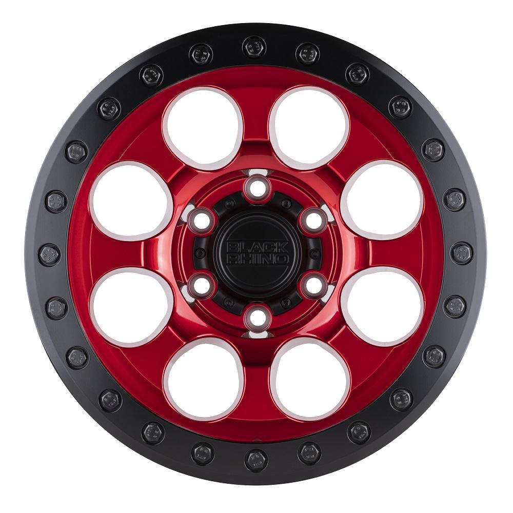 Black Rhino Wheels Riot - Candy Red w/Black Lip and Black Bolts RF Rim