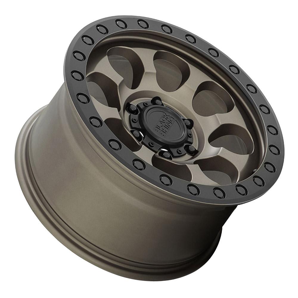 Black Rhino Wheels Riot - Matte Bronze w/Black Lip and Black Bolts Rim