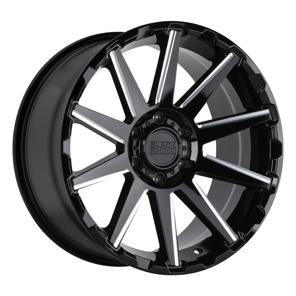 Black Rhino Wheels Typhoon - Gloss Black w/ Milled Spoke Rim