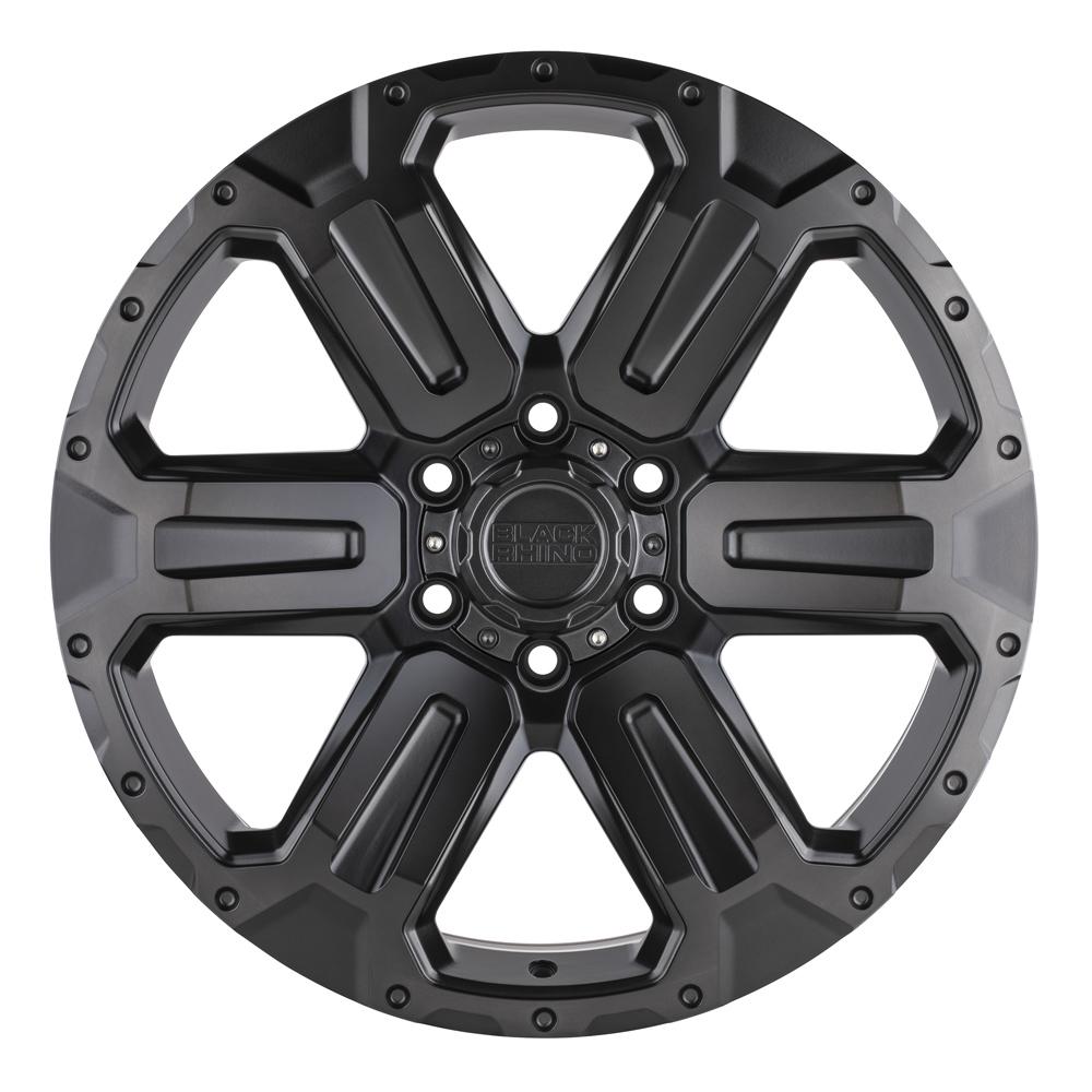 Black Rhino Wheels Wanaka - Matte Gunmetal w/ Brushed Face and Gunmetal Tint Rim