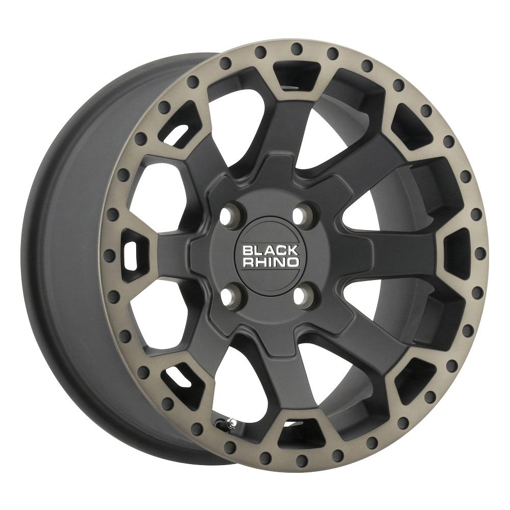 Black Rhino Wheels Warlord UTV - Matte Black W/ Machine Dark Tint Lip Rim