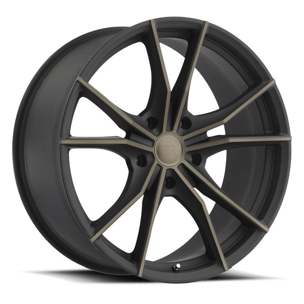 Black Rhino Wheels Zion 5 - Matte Black with Machine Face & Dark Matte Tint
