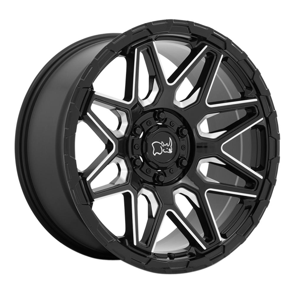 Black Rhino Wheels Shockwave - Black Milled Rim