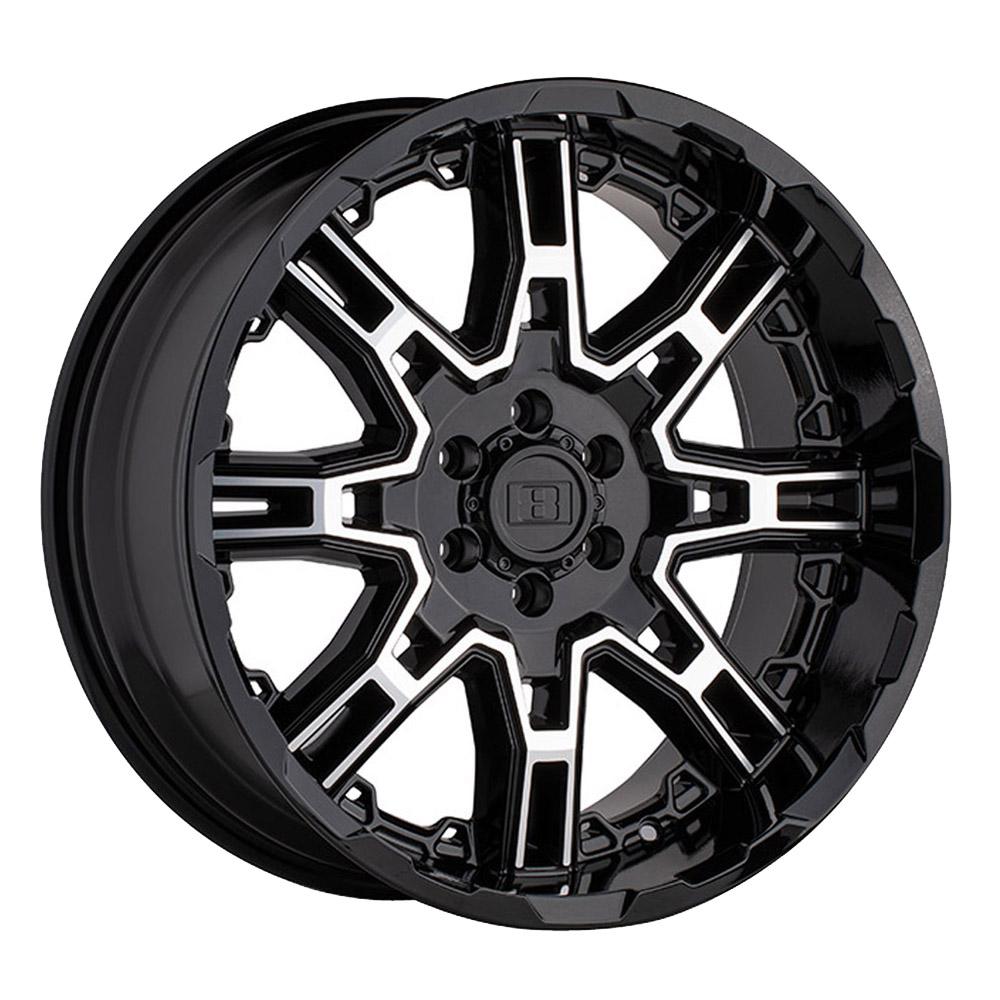 Level 8 Wheels Slingshot - Gloss Black W/Machined Face Rim
