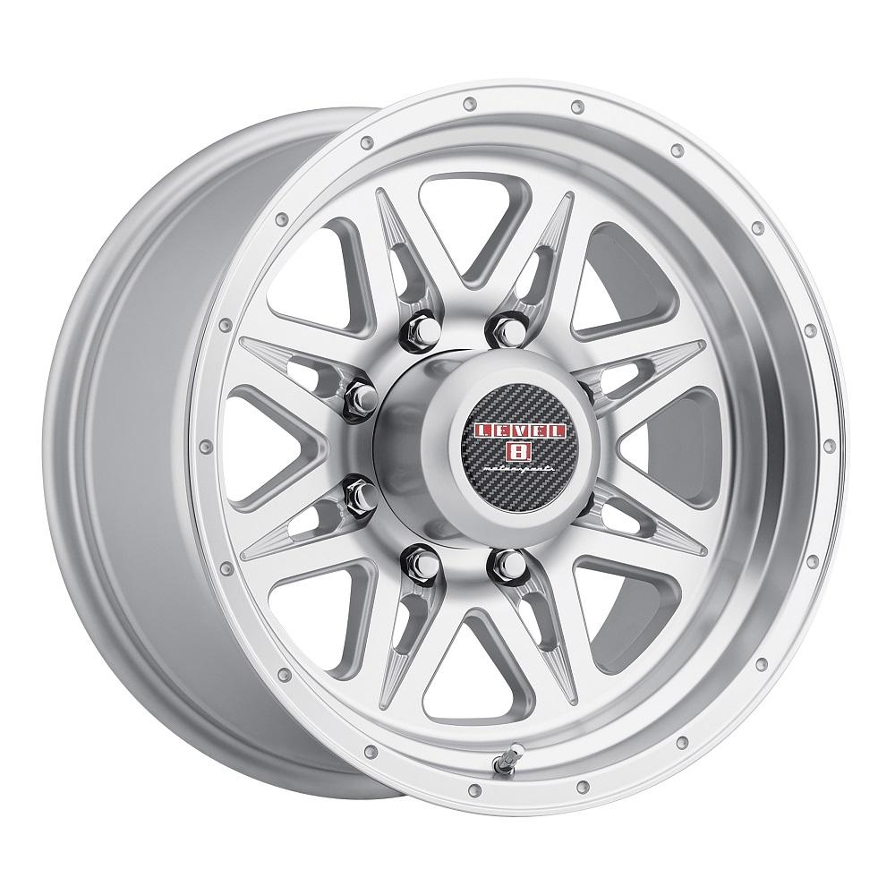 Level 8 Wheels Strike 8 - Silver w/Machined Lip Rim