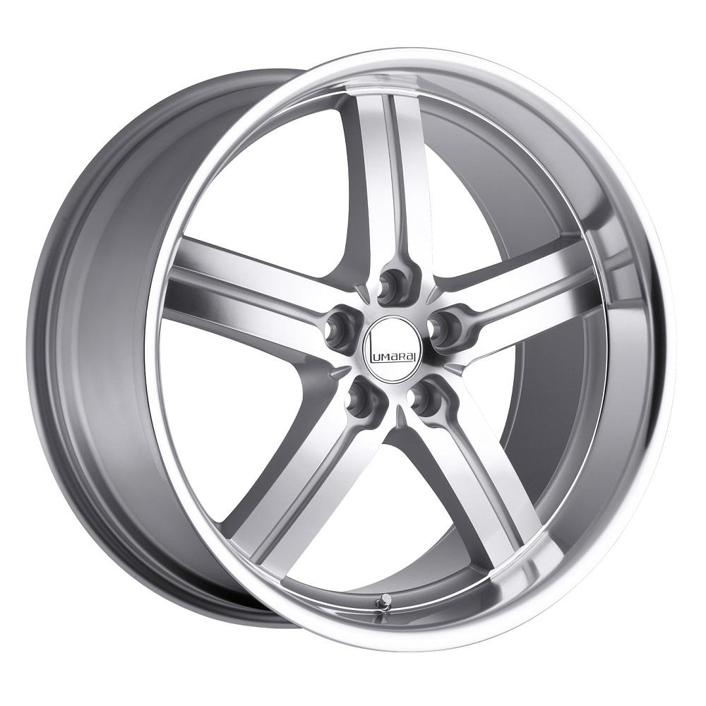 Lumarai Wheels Morro - Silver with Mirror Cut Face & Lip Rim