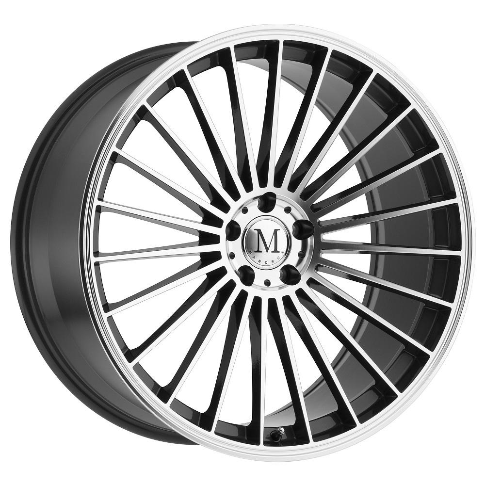 Mandrus Wheels 23 - Gunmetal W/Mirror Cut Face Rim