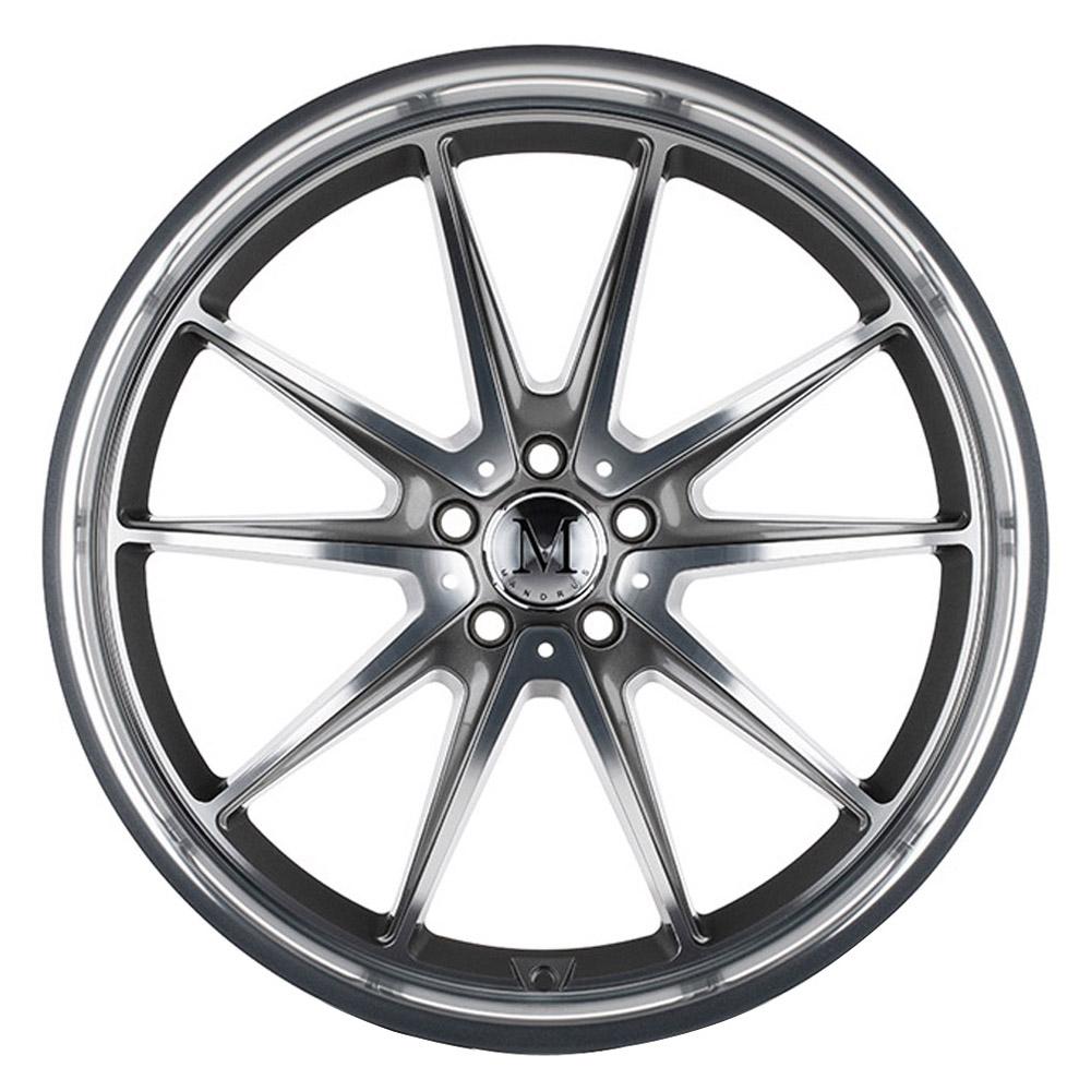 Mandrus Wheels Argent - Gloss Gunmetal W/Mirror Cut Face Rim