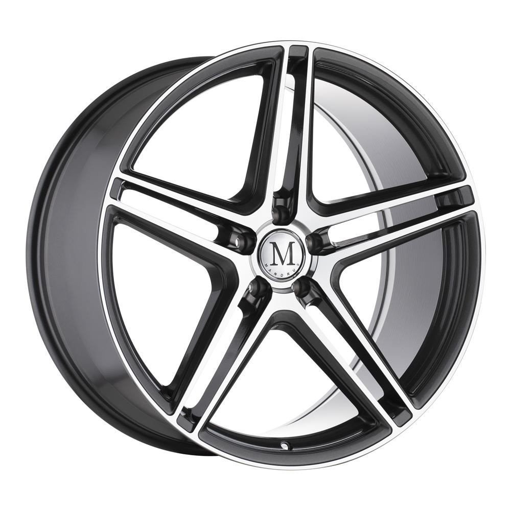 Mandrus Wheels Bemen - Gloss Gunmetal with Mirror Machined Spoke Faces Rim