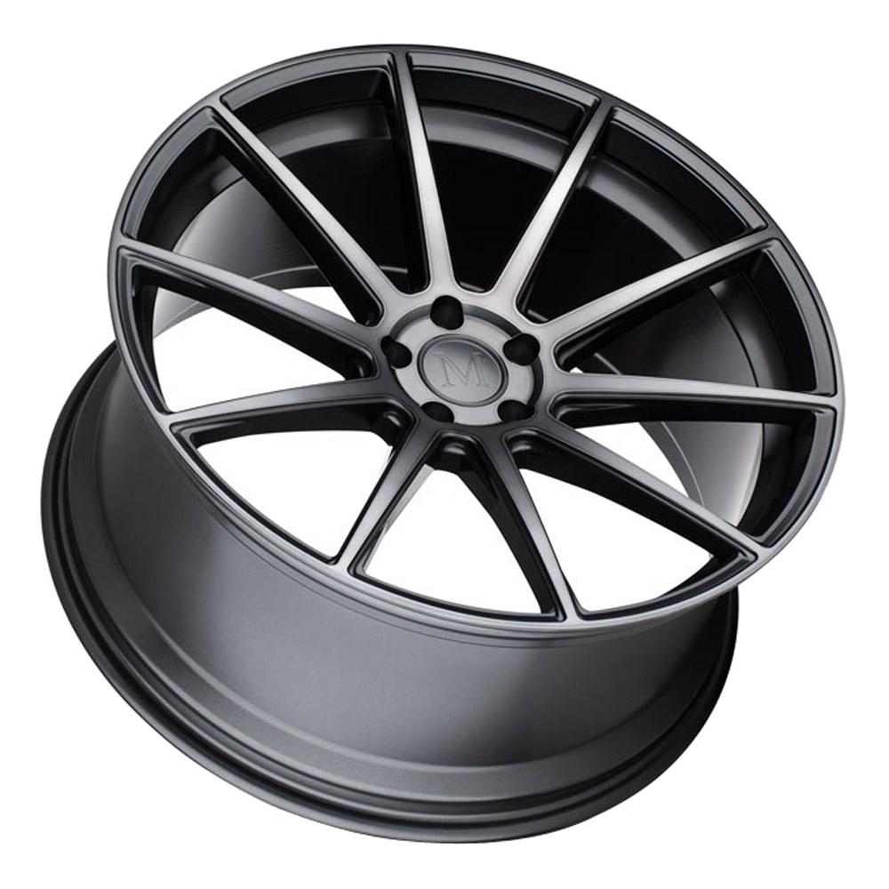 Mandrus Wheels Klass - Gloss Gunmetal W/Machined Tinted Face Rim