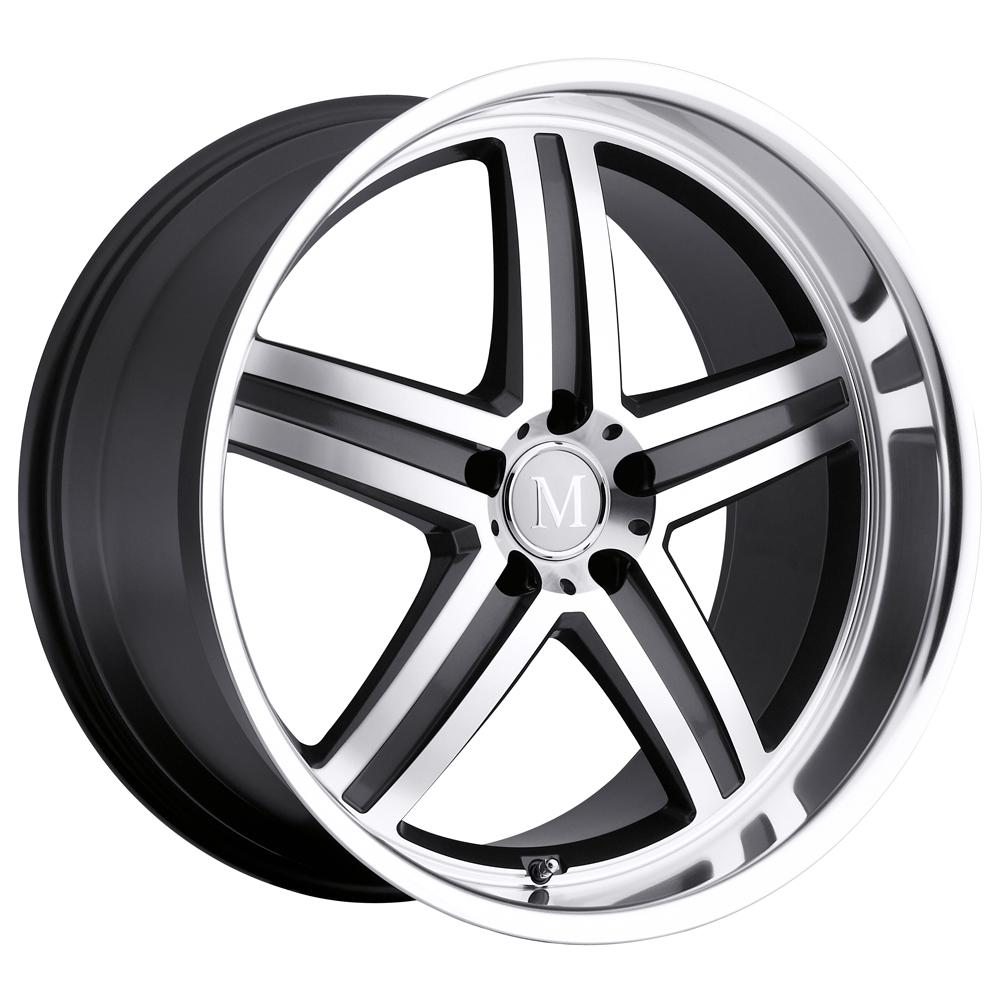 Mandrus Wheels Mannheim - Gunmetal W/Mirror Cut Face & Lip Rim