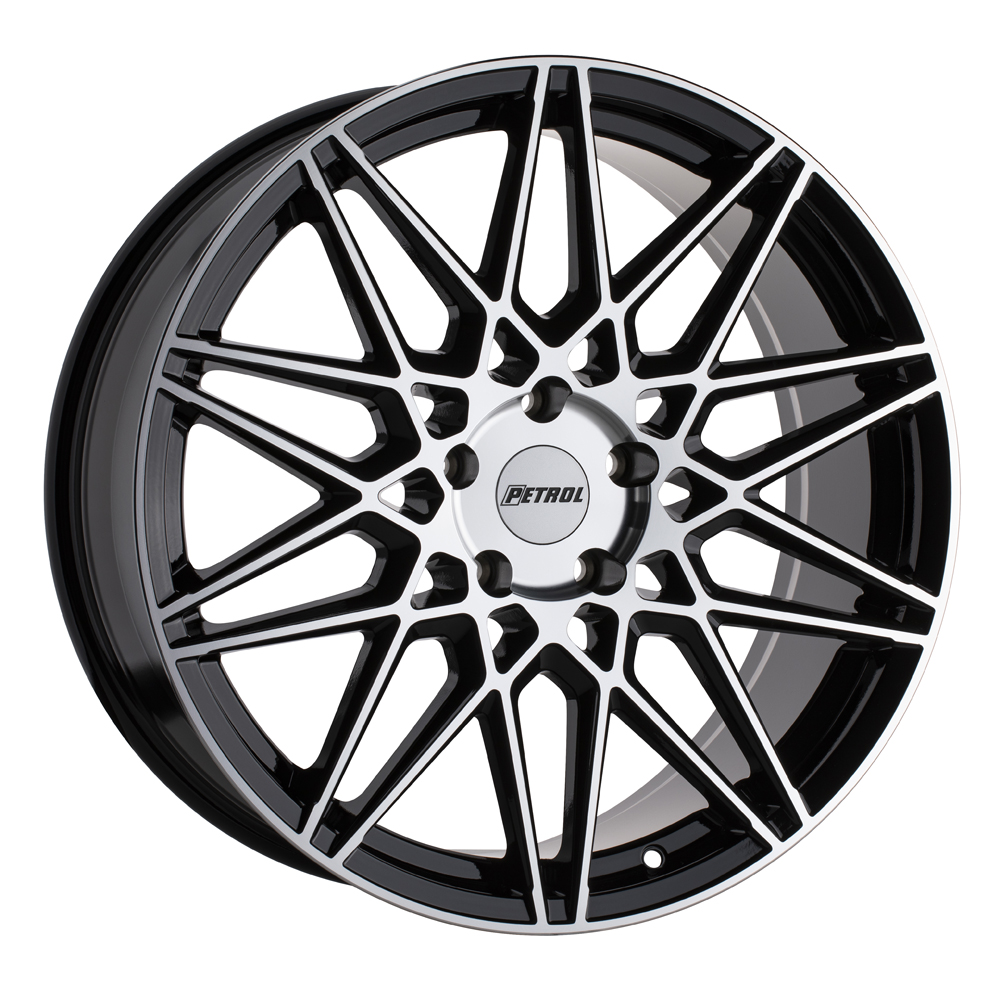 Petrol Wheels P3C - Gloss Black w/ Machined Face Rim