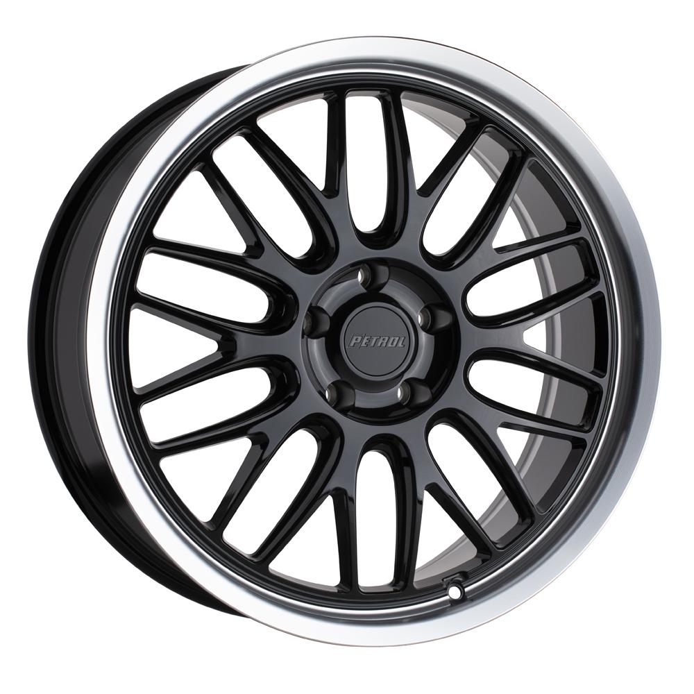 Petrol Wheels P4C - Gloss Black w/ Machined Lip Rim
