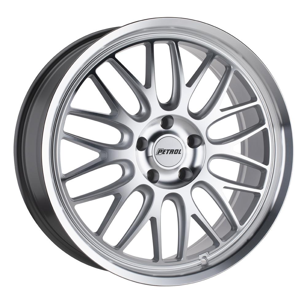 Petrol Wheels P4C - Silver w/ Machined Face and Lip Rim